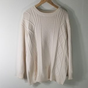 BDG cream colored knot sweater size xs oversized